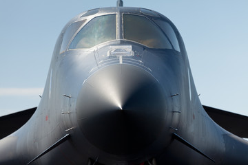 American B-1 Lancer Bomber Close Up