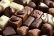 various chocolate pralines - 27663412