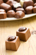 two chocolate pralines
