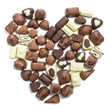 chocolate pralines heart