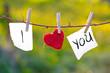 Leinwanddruck Bild - I Love You