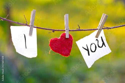 Leinwanddruck Bild I Love You