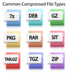 Compressed File Type Icons