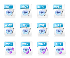 Video Audio File Type Icons