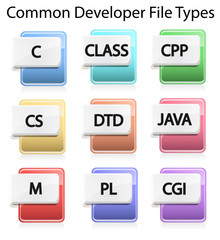 Text File Type Icons
