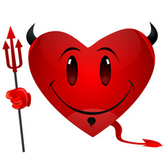 smiley devil heart