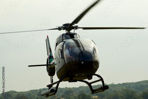 Aluminium Helicopter Closeup of the landing EC-120