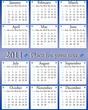 blue calendar design 2011