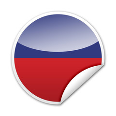 Pegatina bandera Haiti con reborde