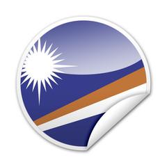 Pegatina bandera Islas Marshall con reborde