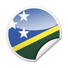 Pegatina bandera Islas Salomon con reborde