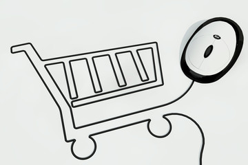shopping kart by mouse wire
