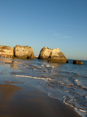Beach at Algarve in the South of Portugal