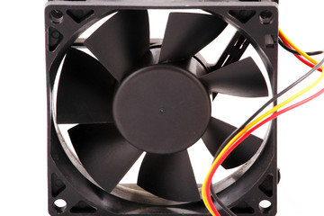 The computer fan isolated on white background