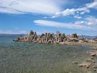 'Peninsula' of tufa formations in Mono Lake Tufa Nature Reserve