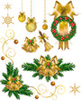 Gold Christmas Bells