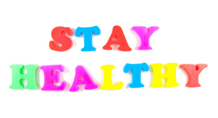 stay healthy written in fridge magnets