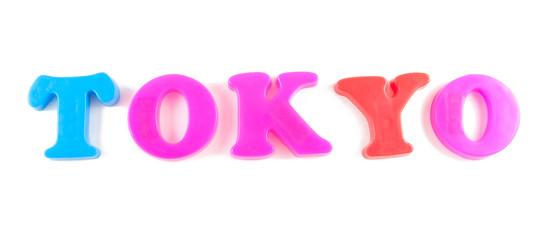 tokyo written in fridge magnets