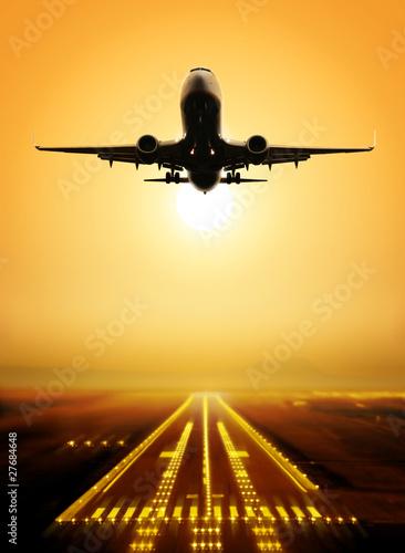 Poster take-off runway
