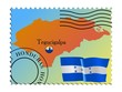 Tegucigalpa - capital of Honduras. Vector stamp