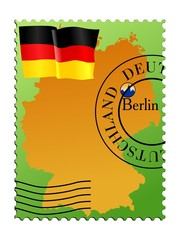 Berlin - capital of Germany. Vector stamp