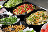 Buffet style food in trays - a series of RESTAURANT images. poster