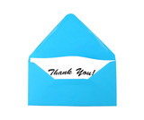 Envelope with gratitude