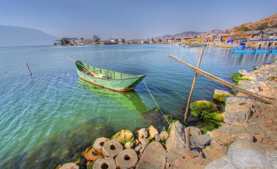 a fishing village around erhai lake dali