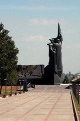 Soviet monument in Donetsk, Ukraine