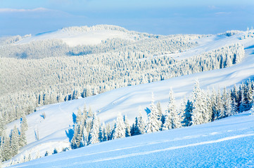 Winter mountain view