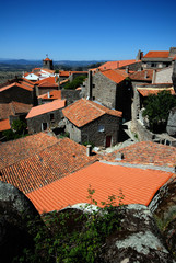 stone village with red roofs(Portugal)