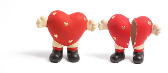 Love Heart Figurines