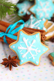 Christmas cookies with cinnamon