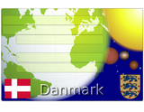 Denmark danmark business card globe flag coat poster