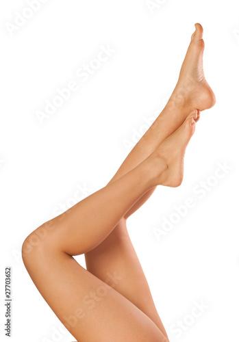 Closeup shot of beautiful young woman`s legs