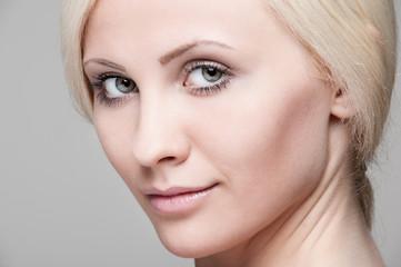 сlose-up portrait of beautiful blonde
