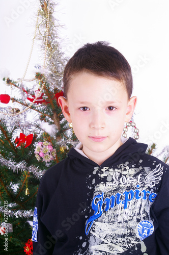 Boy and Christmas tree nb.3