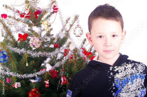 Boy and Christmas tree nb.2