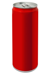 Blank red drinking can
