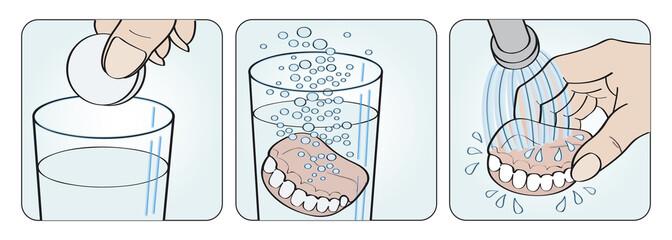 istruzioni per pulizia dentiera e apparecchi odontoiatrici