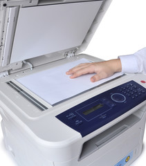 Laser copier and fax, isolated.