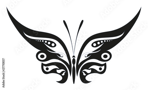 abstract tattoo - a magic butterfly