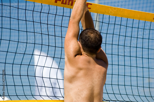 the beach volleyball player