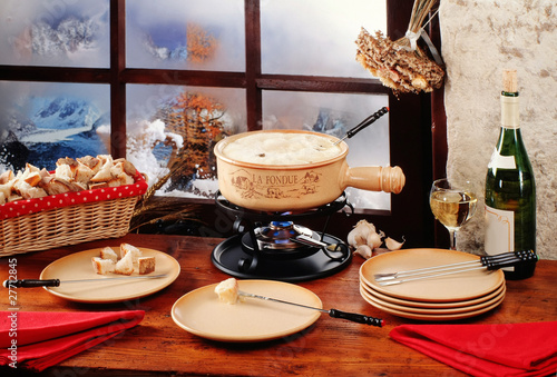 Leinwandbild Motiv La fondue