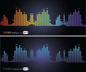 2 backgrounds with music frequency