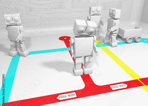 Robot cant decide which way to go because of opposing directions