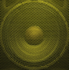 Gold audio speaker
