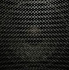 Audio speaker, closeup