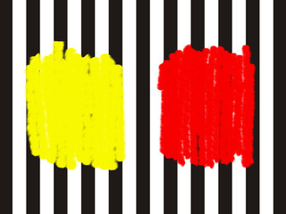 warning - yellow or red