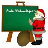 Weihnachtsmann an der Tafel